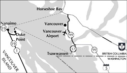 British Columbia  Ferry Service Map