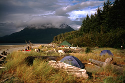 Camping in Clayoquot Sound